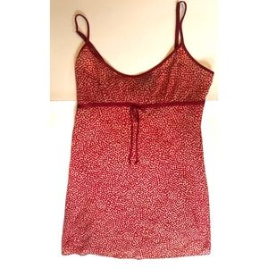 Red Speckled Babydoll Intimate Dress